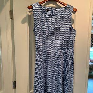 Blue/white Talbots cotton dress. XL